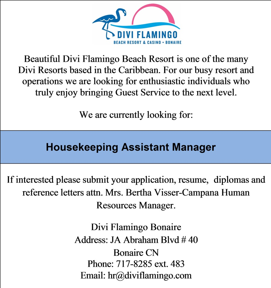 Vacature Housekeeping Assistant Manager