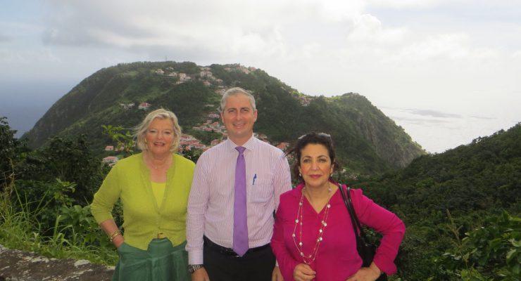 Voorzitters Eerste en Tweede Kamer bezoeken Saba