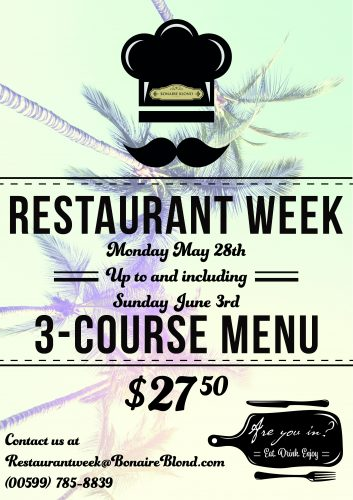 Bonaire Blond Restaurant week