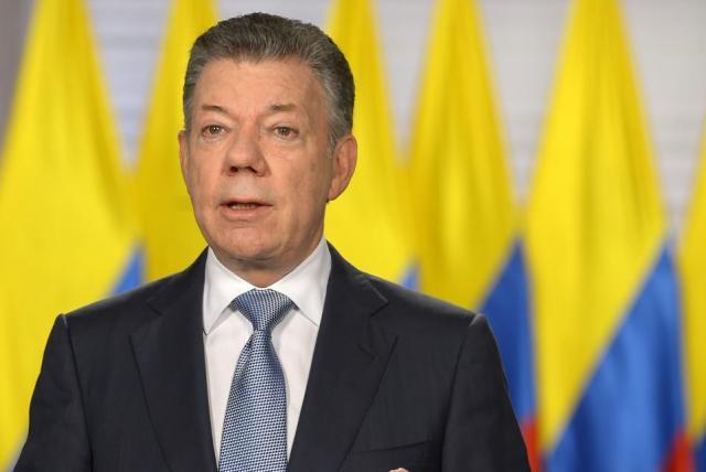 President Santos van Colombia Foto President