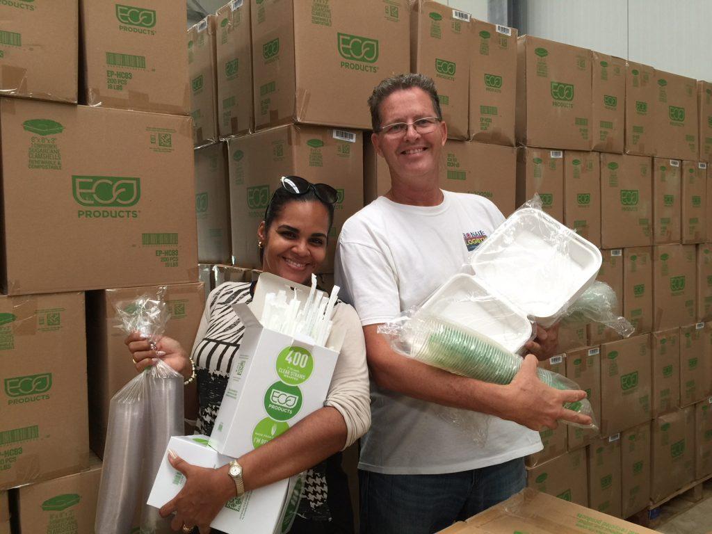 Bonaire Logistics schakelt om naar composteerbare producten!