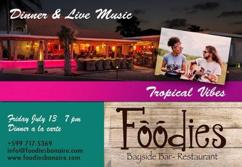 Dinner & Live muziek @ Foodies Restaurant
