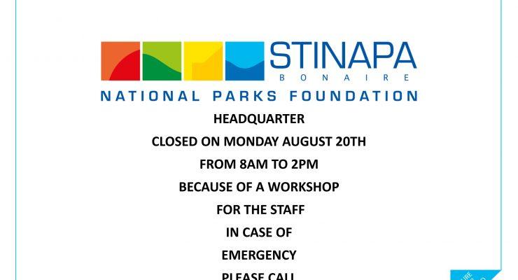 STINAPA kantoor gesloten