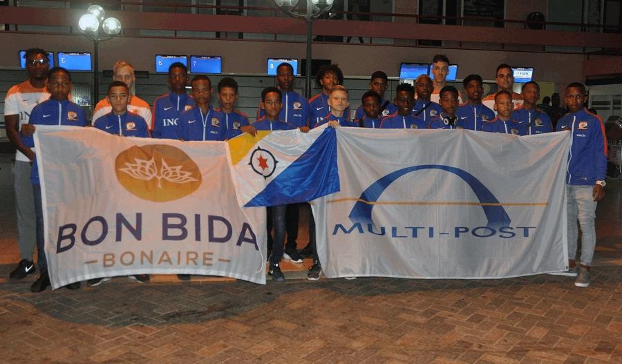 Bonaire selectie team onder 14 jaar vertrokken naar Curacao