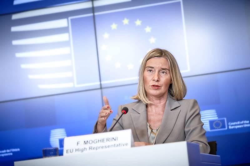 EU-commissaris voor Buitenlandse Zaken Federica Mogherini