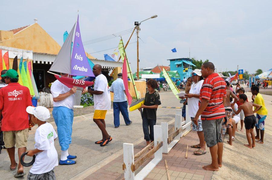 De sailing Regatta op Bonaire