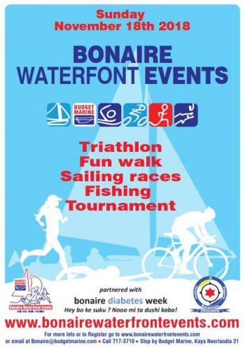 Bonaire Water Front Events Sportdag 18 November @ Boulevard Kralendijk
