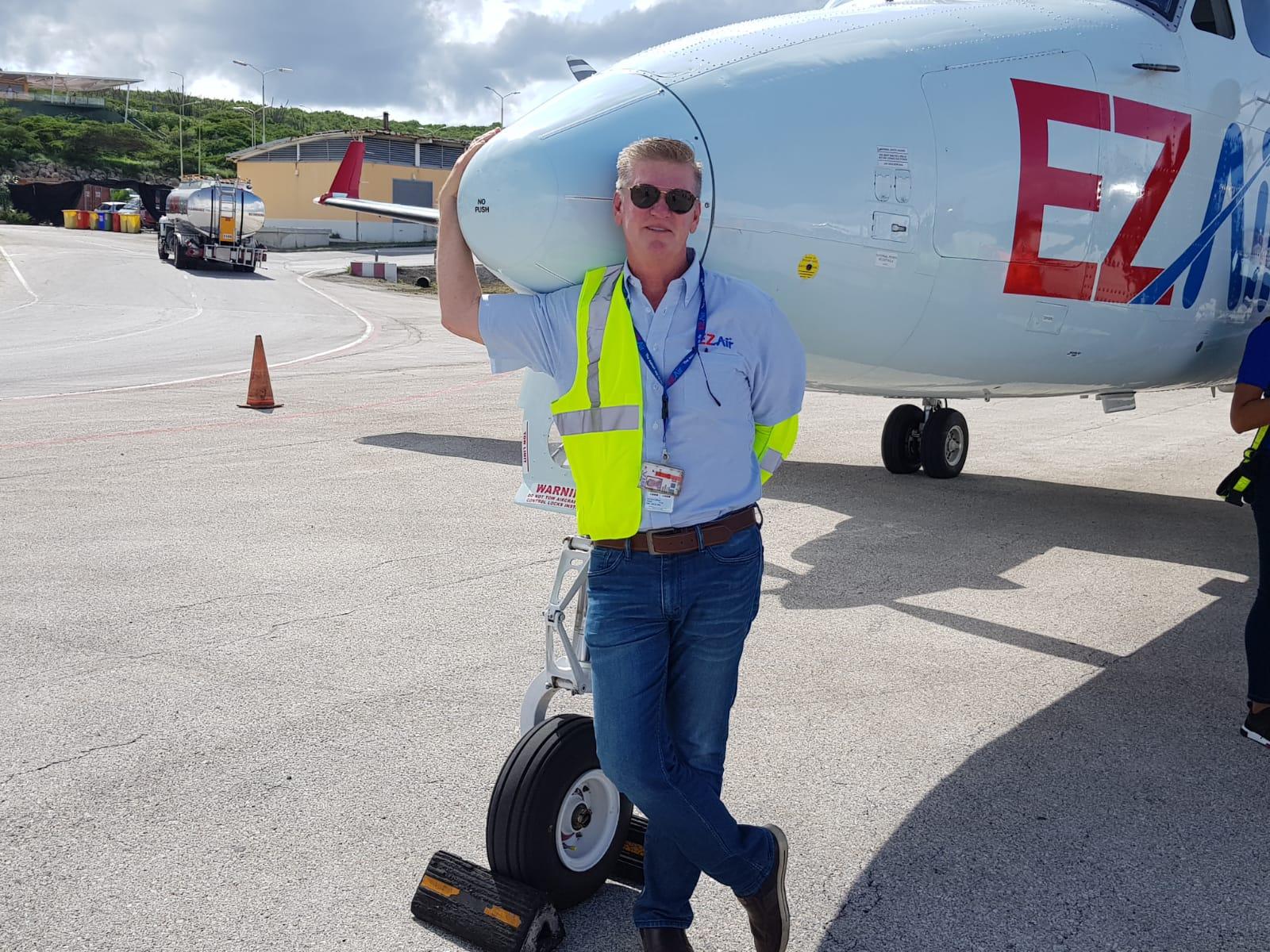 Eerste vliegtuig van EZ Air is op Curacao geland