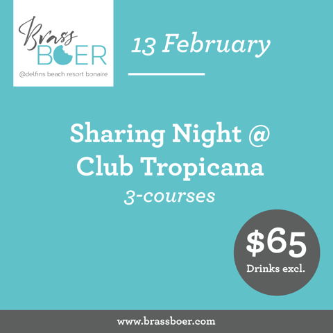 Sharing Night @ Brass Boer - Delfins Beach Resort