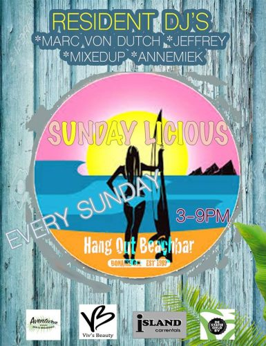 Elke zondag Beach Party @ Hang Out Beach Bar