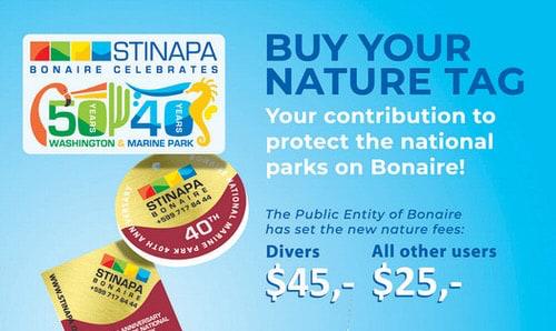 Nieuwe prijzen Bonaire Marine park 2019