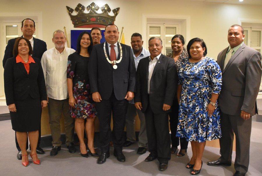 Vier nieuwe leden eilandsraad beëdigd