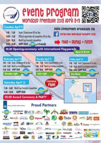 Bonaire is klaar voor de Forsa PWA World Cup welke dinsdag 9 april start