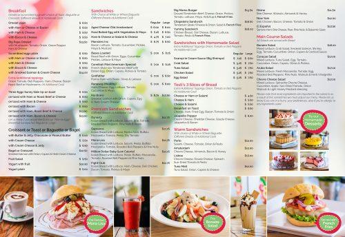 Between 2 Buns menu