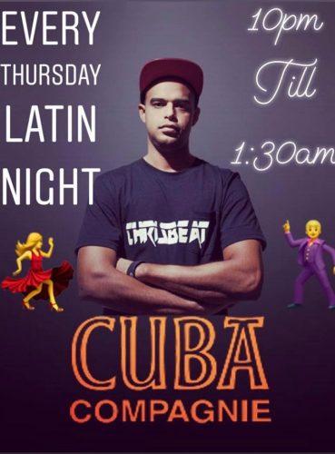 Elke donderdag Latin Night @ Cuba Compagnie