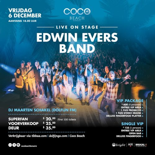 Edwin Evers Band Live ! @ Coco Beach