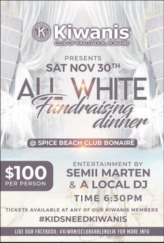 Fundraising Dinner Kiwanis Club @ Spice Beach Bonaire