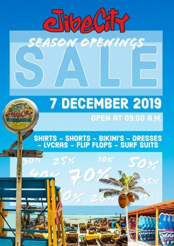 Season Opening Sale @ Jibe City Sorobon