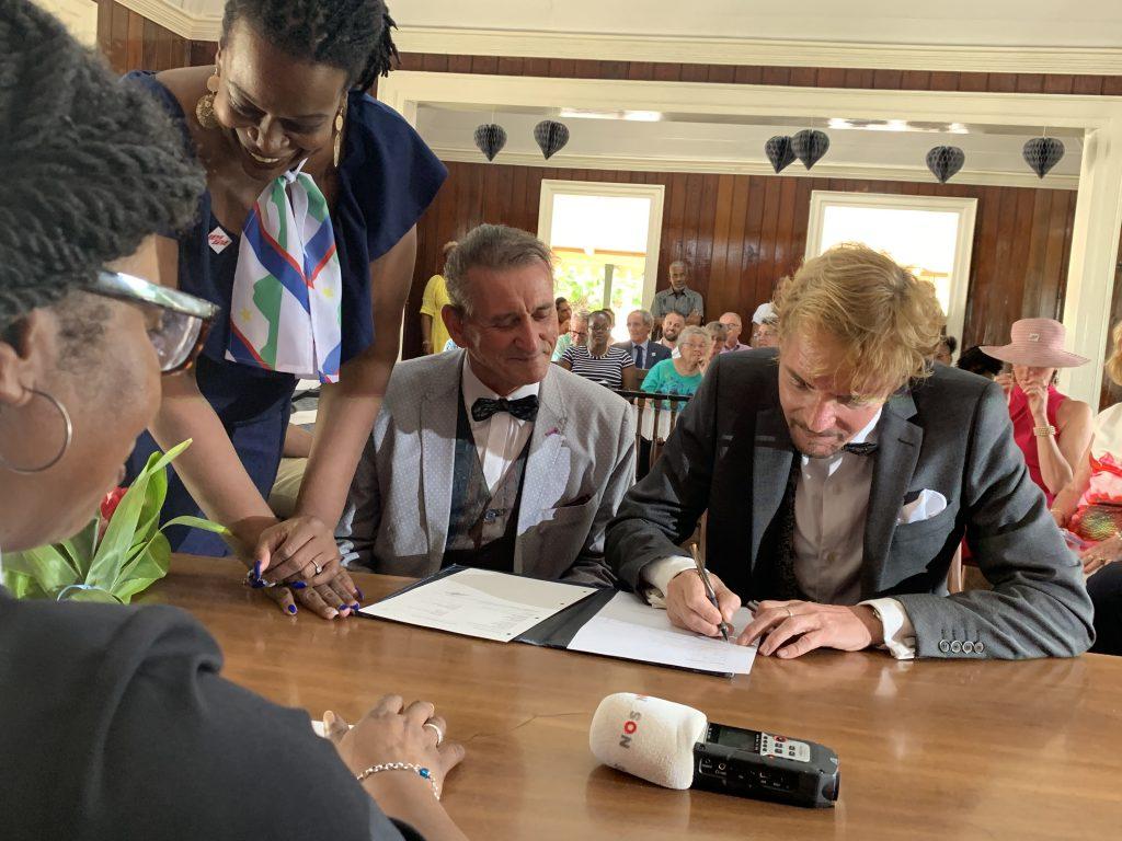 eerste homohuwelijk gesloten op St. Eustatius
