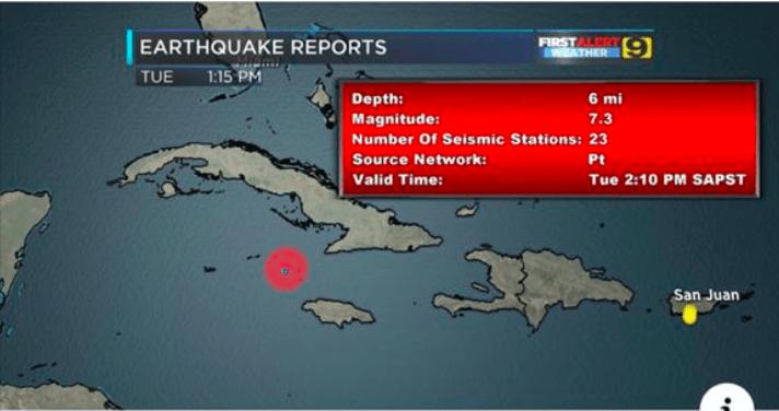 Geen gevaar op Tsunami na zeebeving ten noorden van Jamaica