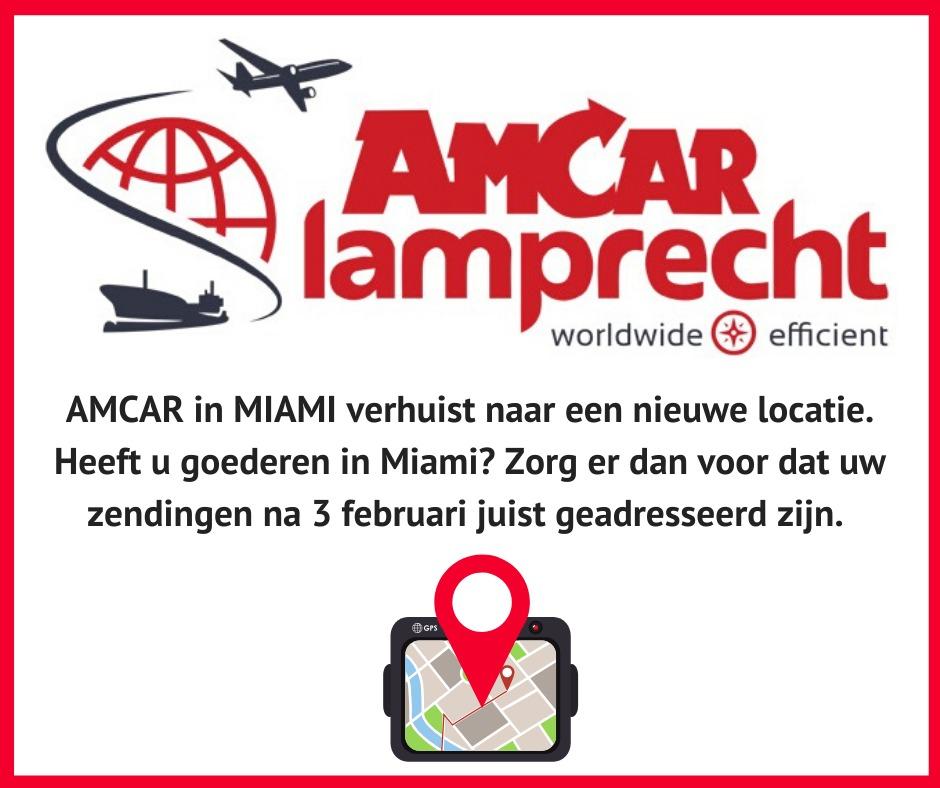 Nieuw adres AmCar Miami