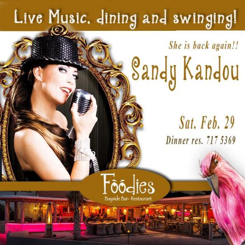 Sandy Kandou Live bij Foodies