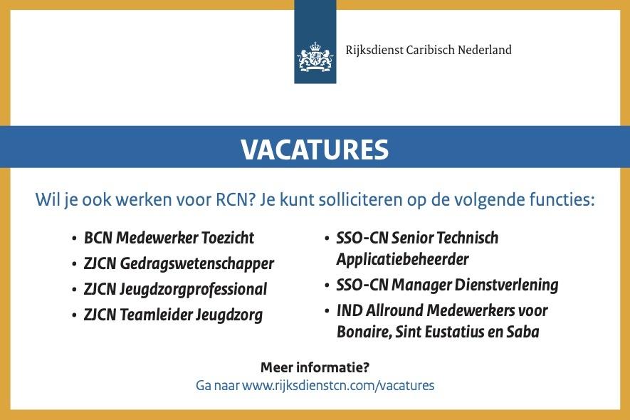 Vacatures Rijksdient Caribisch Nederland
