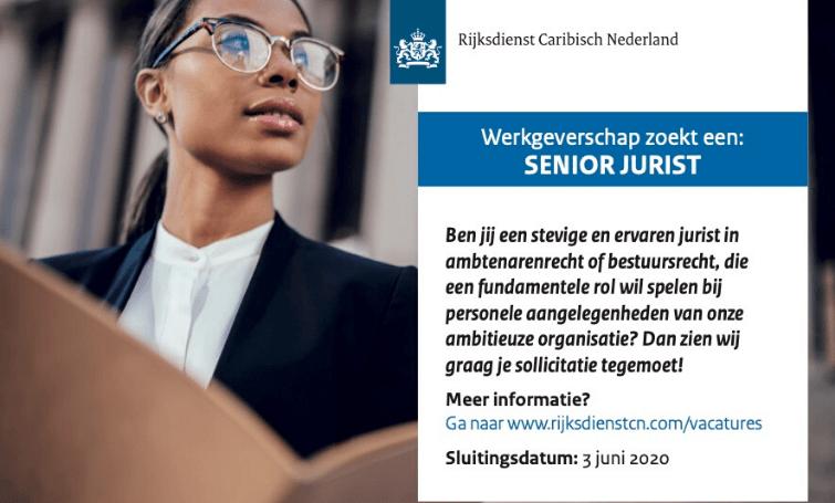 Vacature Senior Jurist