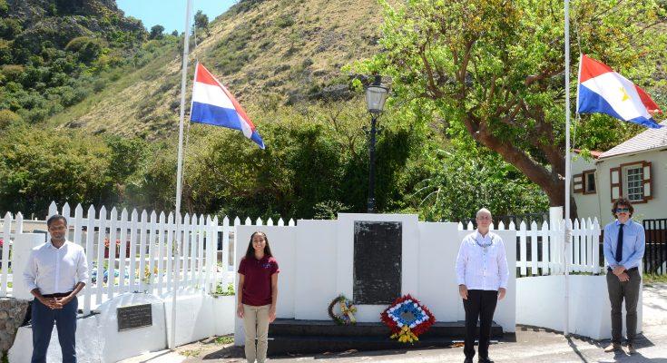 Herdenking 75 vrijheid op Saba