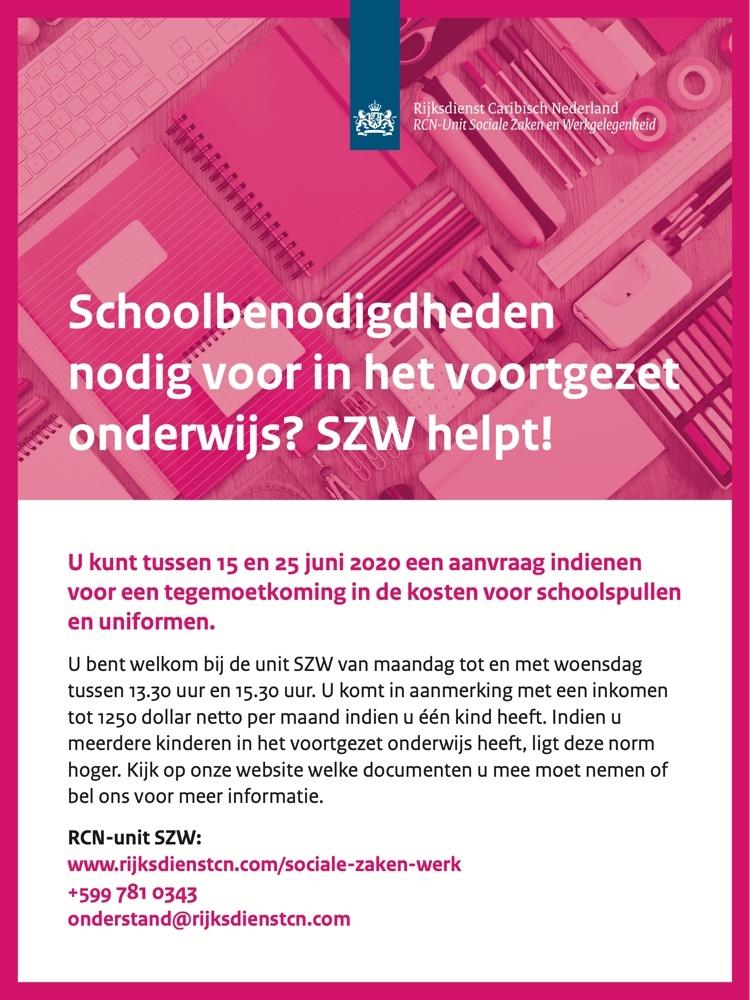 Schoolbenodigdheden nodig voor het voortgezet onderwijs?