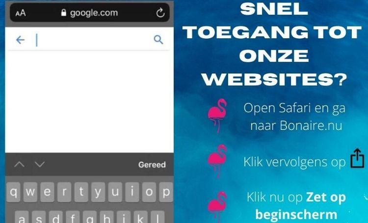Gebruik de handige web app van Bonaire.nu