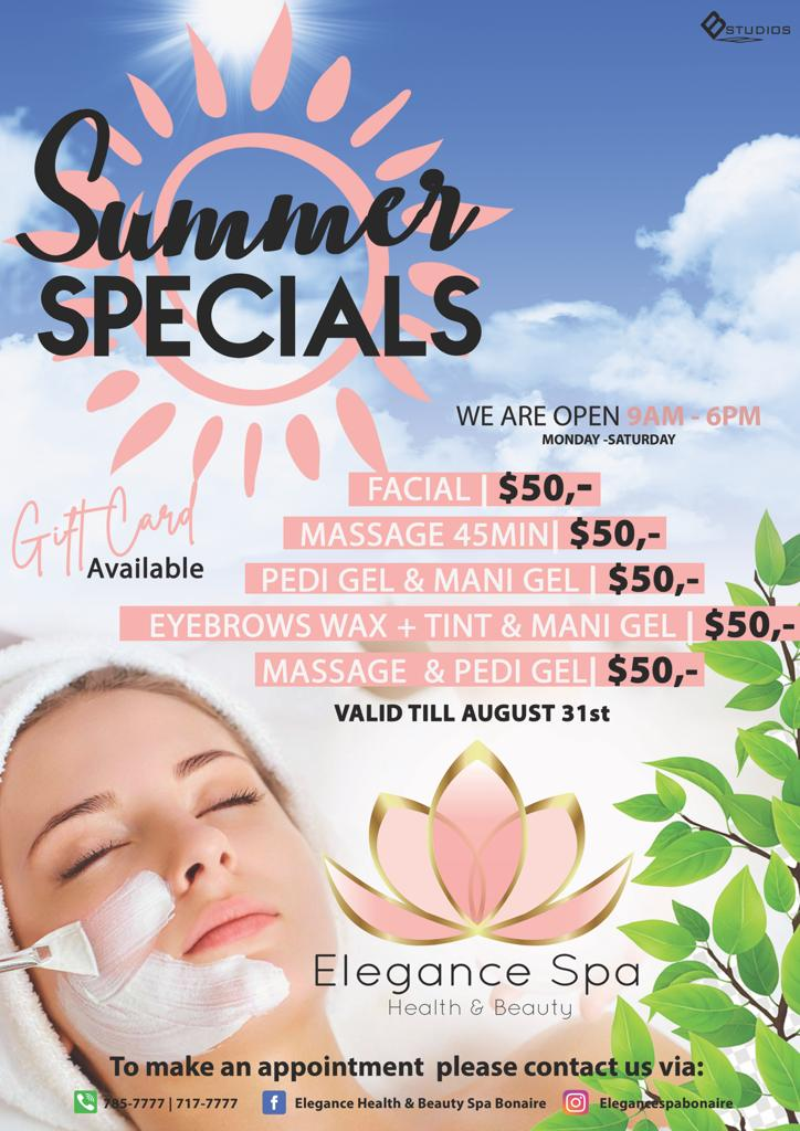Elegance Health & Beauty Spa Summer specials