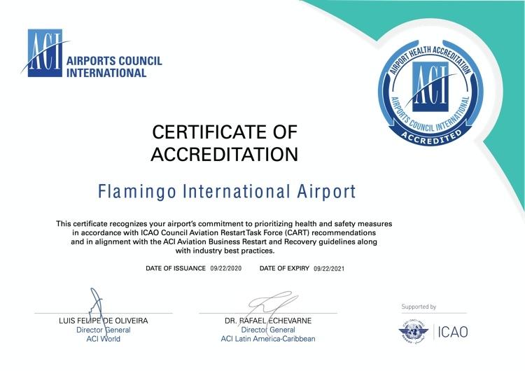 Bonaire International Airport (BIA) krijgt een internationale beoordeling voor de uitvoering van de COVID-19 maatregelen op de luchthaven