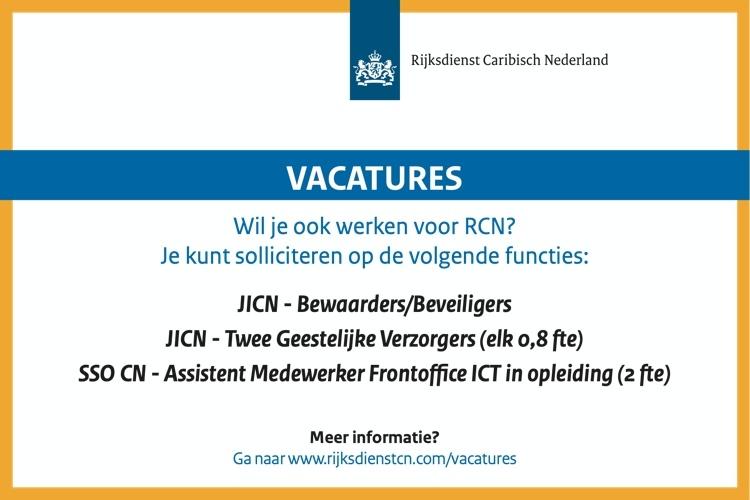 Vacatures Rijksdienst Caribisch Nederland