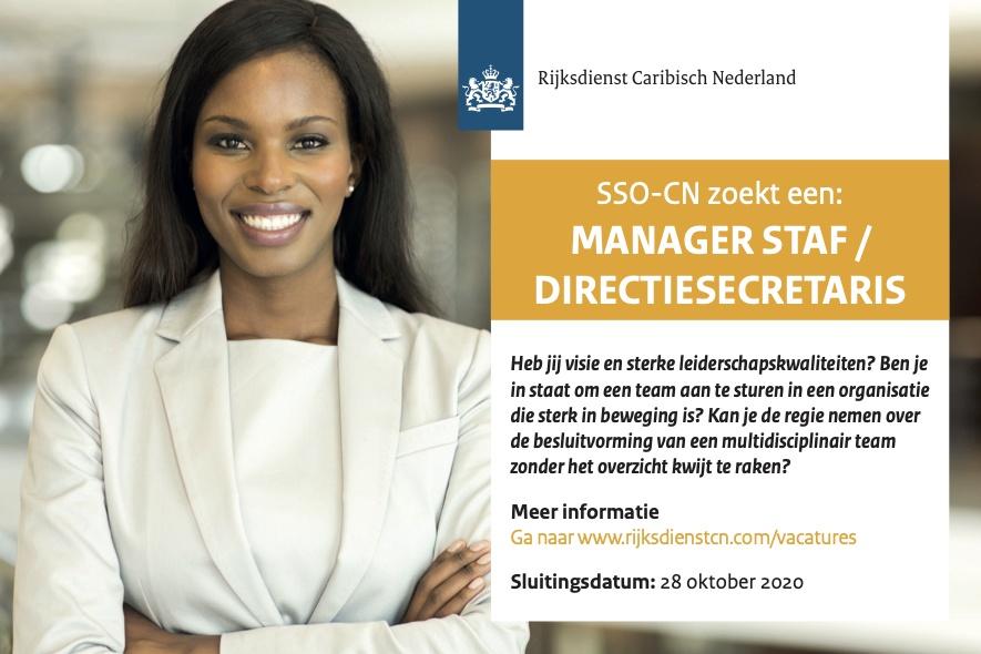 Vacature Manager Staf / Directiesecretaris Bonaire