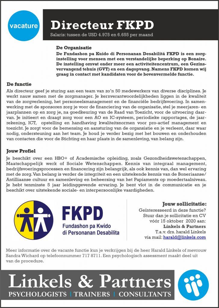 Vacature Directeur FKPD