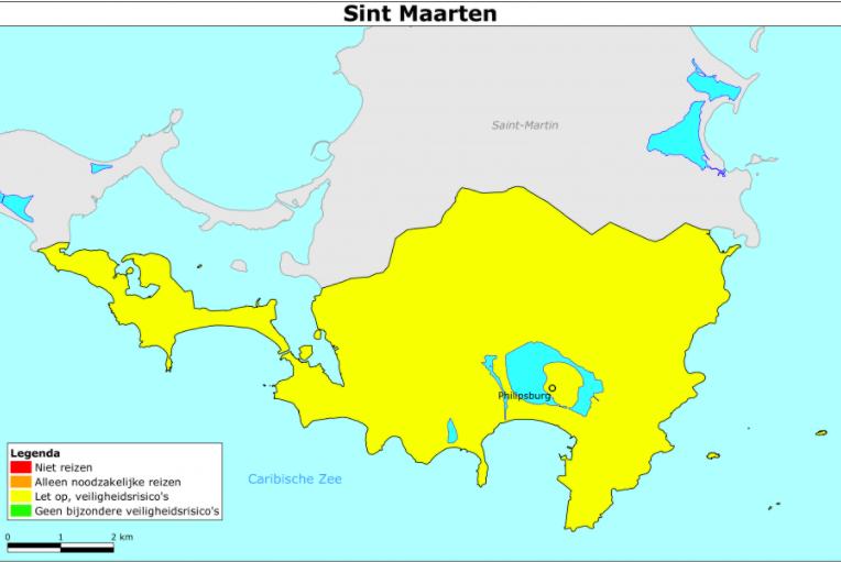 Saba en Sint Eustatius alleen nog oranje