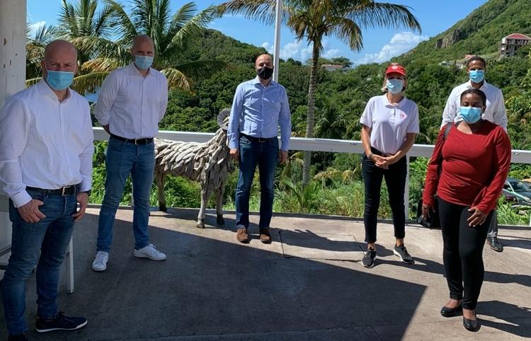 Staatssecretaris Raymond Knops bezoek Sint Eustatius, Saba en Sint Maarten