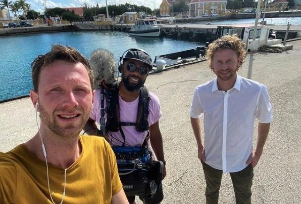 Opnames nieuwe serie Ewout Genemans op Bonaire