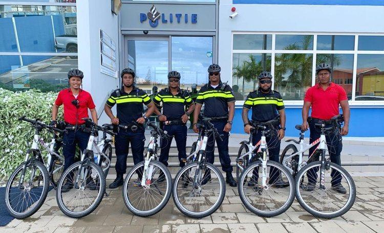 Politie Bonaire versterkt 'bike' patrouille