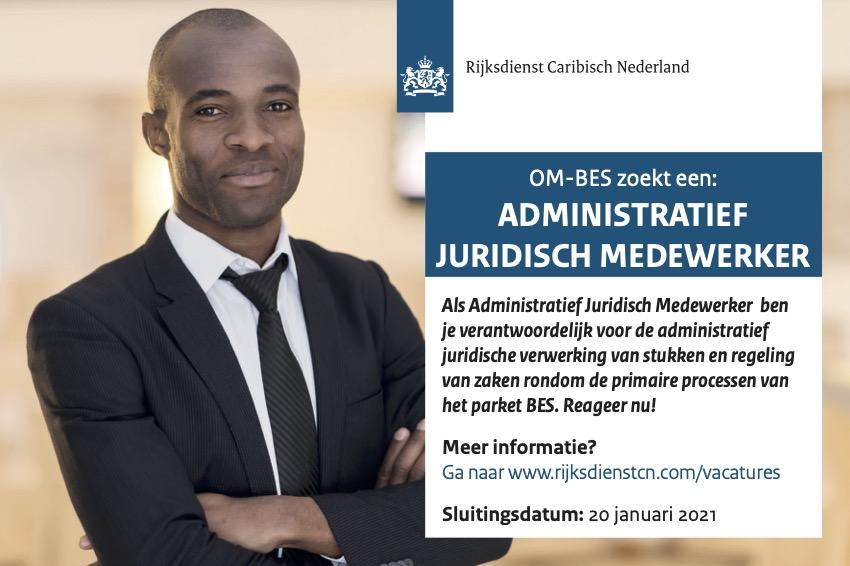 Vacature Administratief Juridisch Medewerker Bonaire