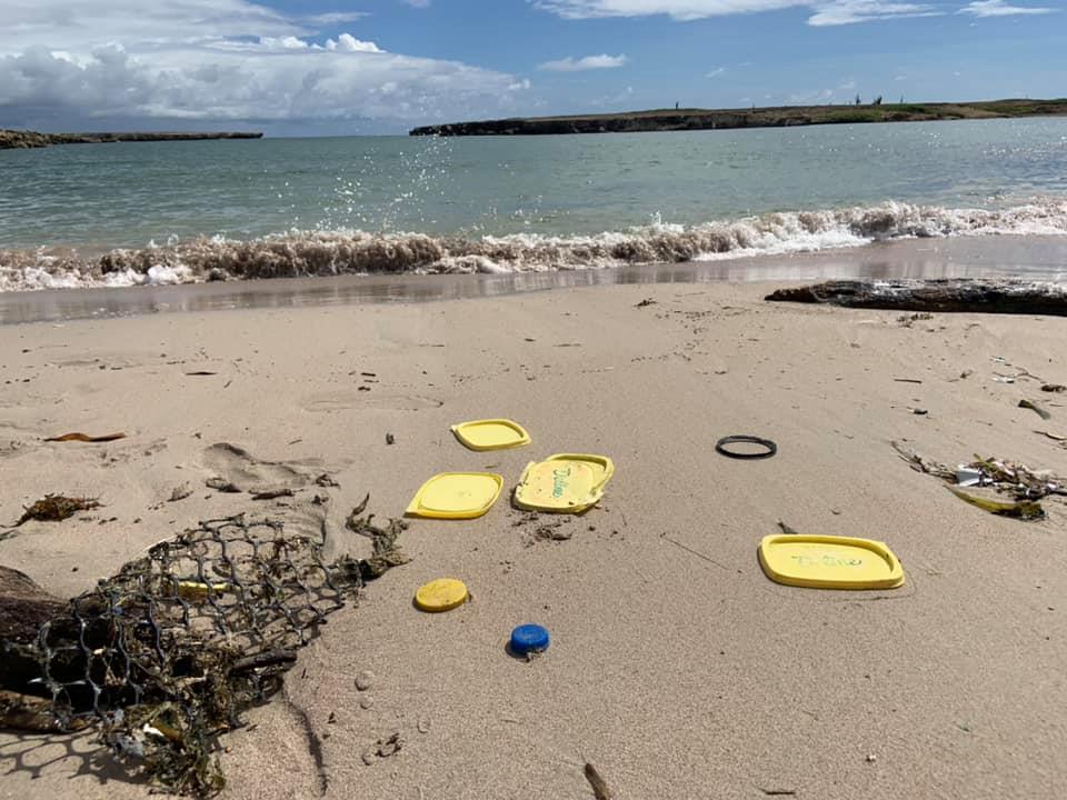 Plastic afval op Bonaire