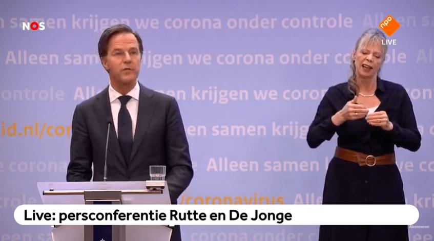 """Rutte: """"Blijf in Nederland tot en met maart"""