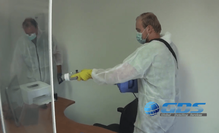 Desinfectie van gebouwen op Bonaire