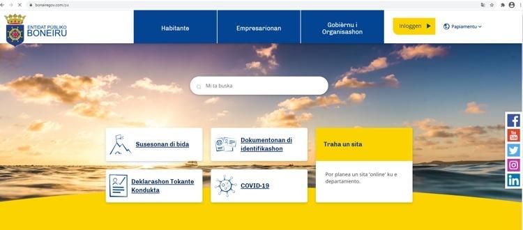 Openbaar Lichaam Bonaire lanceert nieuwe website