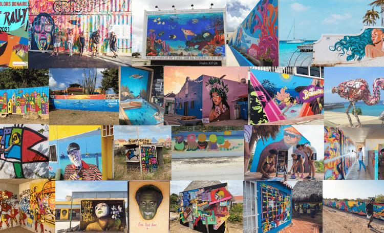 Een kleurrijke kunstroute bij Street Colors Bonaire