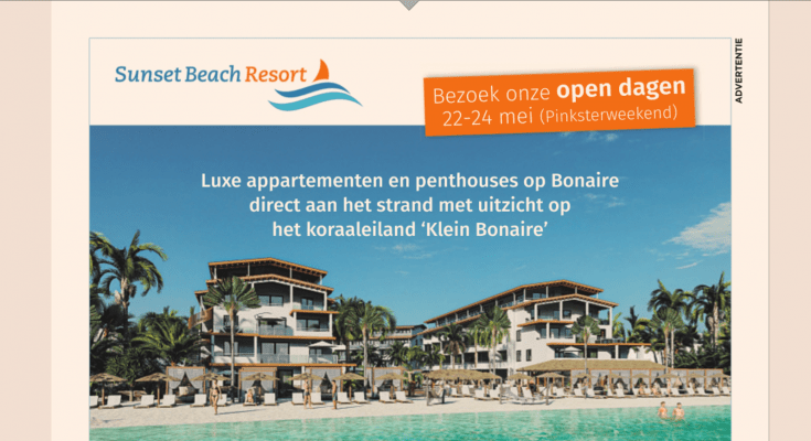 BC muisstil over Sunset Beach Resort