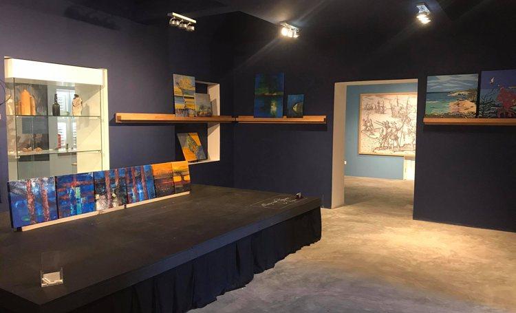 Kunstexpositie in het Terramar museum