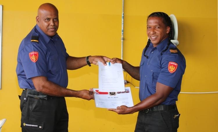 Jubileum medewerkers brandweer