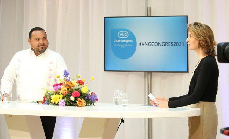 Gezaghebber Rijna op VNG Congres: Duurzaamheid in DNA Bonairianen